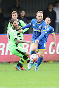 Sean Rigg of AFC Wimbledon starts another attack during the The FA Cup match between AFC Wimbledon and Forest Green Rovers at the Cherry Red Records Stadium, Kingston, England on 7 November 2015. Photo by Stuart Butcher.