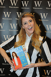 "© Licensed to London News Pictures. 24/01/2015<br /> Youtube personality,comedian and actress Grace Helbig at Waterstones book shop Bluewater today (24.01.2015) signing copies of her new book ""Grace's Guide"".<br /> Hundreds if teenage girls have queued for hours to meet Grace and take a selfie with her.<br /> (Byline:Grant Falvey/LNP)"