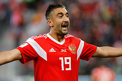 June 19, 2018 - Saint Petersburg, Russia - Alexander Samedov of Russia national team celebrates a goal during the 2018 FIFA World Cup Russia group A match between Russia and Egypt on June 19, 2018 at Saint Petersburg Stadium in Saint Petersburg, Russia. (Credit Image: © Mike Kireev/NurPhoto via ZUMA Press)