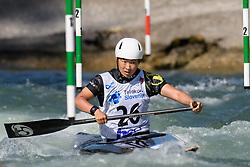 Ren MISHIMA of Japan during the Canoe Single (WC1) Womens Semi Final race of 2019 ICF Canoe Slalom World Cup 4, on June 30, 2019 in Tacen, Ljubljana, Slovenia. Photo by Sasa Pahic Szabo / Sportida