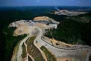 Mountain top removal from the Spruce Roughner Magnum Coal mines in Blair County, West Virginia.