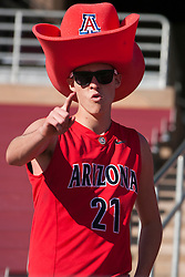 November 6, 2010; Stanford, CA, USA;  An Arizona Wildcats fan before the game against the Stanford Cardinal at Stanford Stadium.