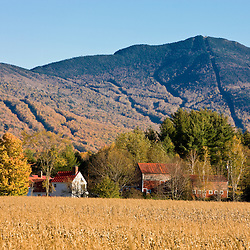 Spruce Peak in Vermont's Green Mountains.  Fall.  Jeffersonville, Vermont.