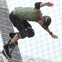 Tony Hawk catches air during Sonic Generations of Skate at Venice Beach on Saturday, October 22, 2011. Sonic Generations of Skate is a completely unique team competition that pays homage to the three generations of vert skaters that have come through So Cal over the past few decades. Each team consists of one 40-something skater (first generation), one 30-something skater (second generation) and one teen/20-something skater (third generation) competing against other teams with the same mix. The contests includes individual runs, high air, best trick and team doubles.
