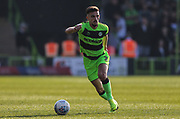 Forest Green Rovers Liam Shephard(2) runs forward during the EFL Sky Bet League 2 match between Forest Green Rovers and Milton Keynes Dons at the New Lawn, Forest Green, United Kingdom on 30 March 2019.