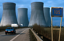 CZECH REPUBLIC:TEMELIN:MAR00 - General view of the cooling towers of the nuclear power plant Temelin the southern Bohemia. Despite vehement and sustained protests from both environmental groups at home and abroad, the Czech government persist on completing the fourth reactor of the plant.  Neighbouring cournties Austria and Germany have expressed concerns about the outdated technology.and security measures applied inside the reactor. jre/Photo by Jiri Rezac..© Jiri Rezac 2000..Tel:   +44 (0) 7050 110 417.Email: info@jirirezac.com.Web:   www.jirirezac.com