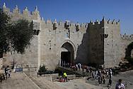 DAMASCUS GATE of  the Old City of Jerusalem <br /> Photo by Dennis Brack
