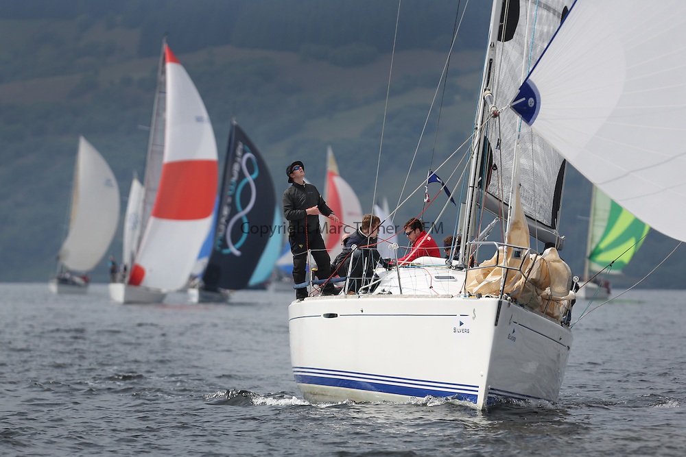 The Silvers Marine Scottish Series 2014, organised by the  Clyde Cruising Club,  celebrates it's 40th anniversary.<br /> IRL1666, Carmen II, Jeffrey/Scutt, CCC/HSC, First 36.7<br /> Final day racing on Loch Fyne from 23rd-26th May 2014<br /> <br /> Credit : Marc Turner / PFM