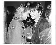 Michael J. Fox and wife Tracy Pollan. Screening in Tribeca. N.Y. 1990 approx. © Copyright Photograph by Dafydd Jones 66 Stockwell Park Rd. London SW9 0DA Tel 020 7733 0108 www.dafjones.com
