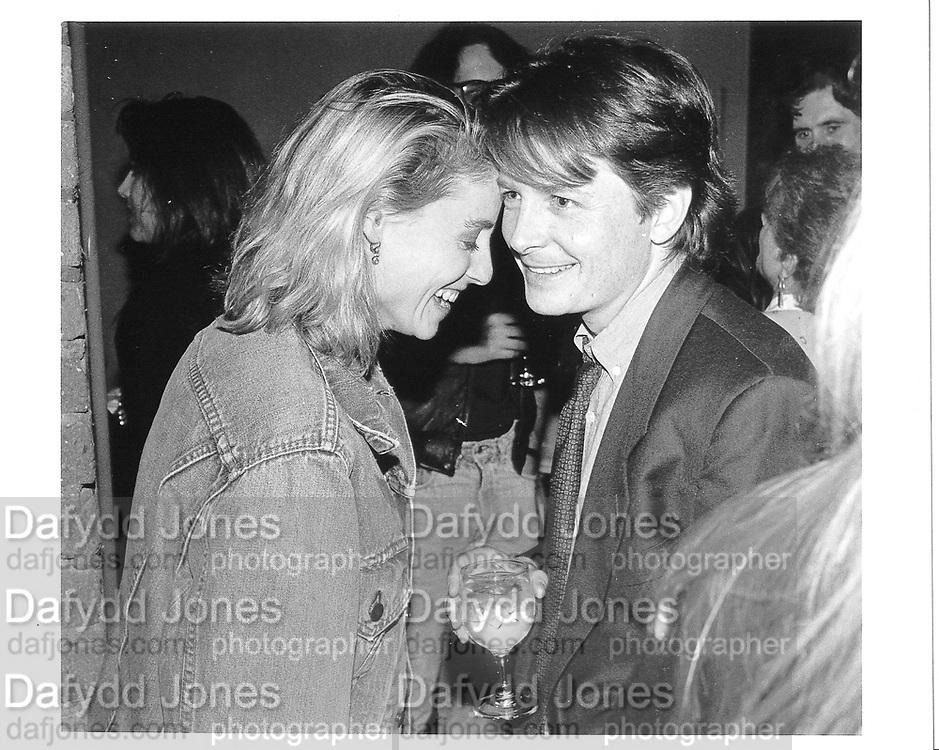Michael J. Fox and wife Tracy Pollan. Screening in Tribeca. N.Y. 1990 approx. © Copyright Photograph by Dafydd Jones 66 Stockwell Park Rd. London SW9 0DA Tel 020 7733 0108 www.dafjones.com
