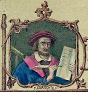 Philip Melanchthon (Schwarzerd - 1497-1560) German Protestant reformer. Coloured lithograph.