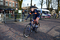 Mieke Kröger (GER) at Drentse 8 van Westerveld 2019, a 145 km road race starting and finishing in Dwingeloo, Netherlands on March 15, 2019. Photo by Sean Robinson/velofocus.com