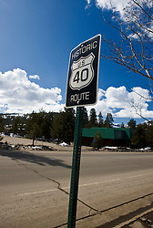 Historic Route US 40 sign, Truckee, California, United States of America