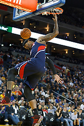 February 25, 2011; Oakland, CA, USA;  Atlanta Hawks power forward Josh Smith (5) dunks against the Golden State Warriors during the first quarter at Oracle Arena.