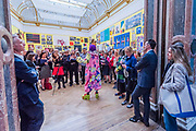 Grayson Perry, the curator, begins his tour with journalists - Royal Academy celebrates its 250th Summer Exhibition, and to mark this momentous occasion, the exhibition is co-ordinated by Grayson Perry RA.