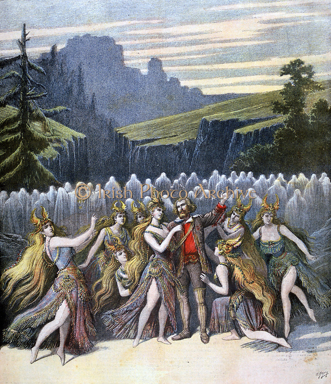 Spectacular production of 'Rip' at the Gaite Theare, Paris, based on the tale of Rip Van Winkle by the American author Washington Irving.  From 'Le Petit Journal', Paris 2 December 1894. France, Entertainment