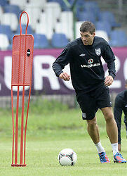 England Training Steven Gerrard training ahead of their game against Sweden in the UEFA Euro 2012. June 13, 2012. Photo by Imago/i-Images.All Rights Reserved ©imago/i-Images .Contact Agency for fees before use...One use only. Re-Use Fees apply
