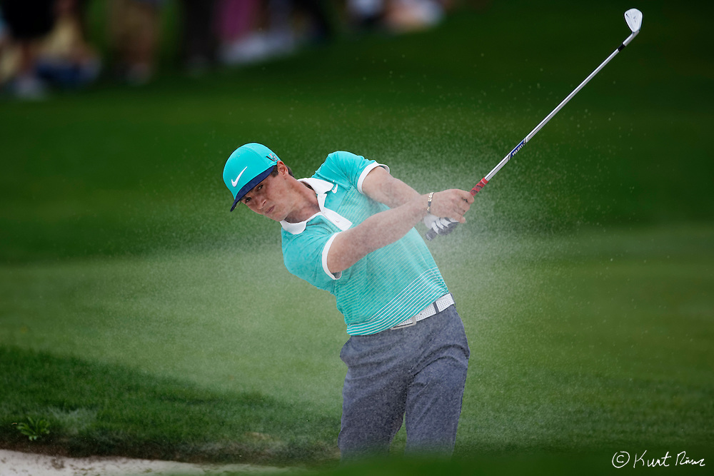 THORBJORN OLESEN on his second shot out of the fairway on the first hole during the final round of the Arnold Palmer Invitational at the Bay Hill Club and Lodge.