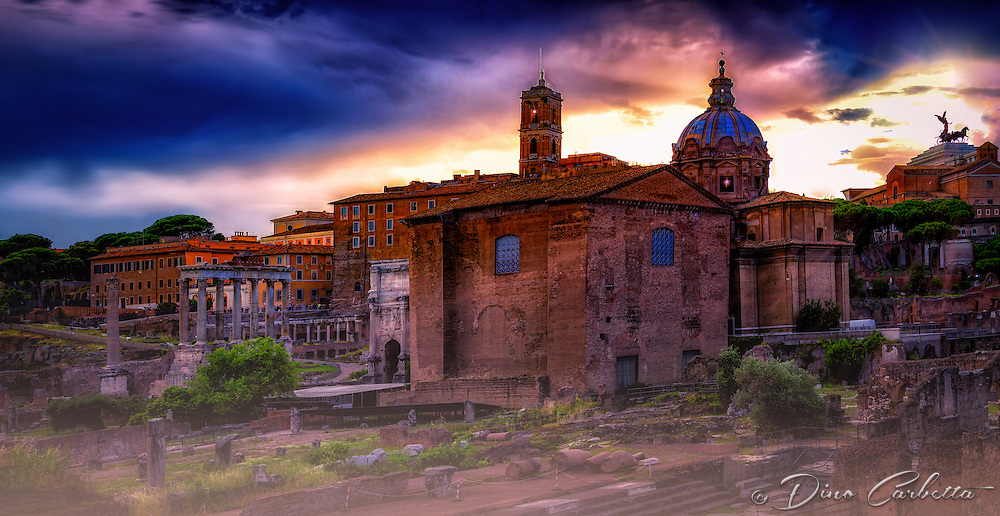 """Curia Julia and Santi Luca e Martina - Roman Forum""…"