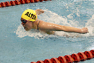 Alter sophomore Christy Bianco competes in the 100 yard butterfly during the Girls Division II District Swimming Tournament at the Corwin Nixon Natatorium at Miami University, Saturday, February 16, 2008.