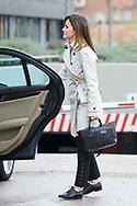 Queen Letizia of Spain visited King Juan Carlos of Spain after his knee surgery at La Moraleja Hospital on April 7, 2018 in Madrid, Spain