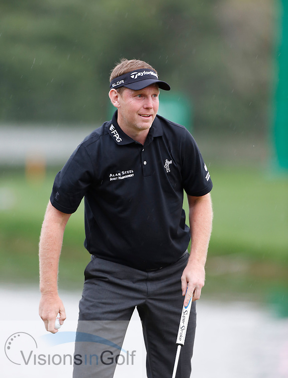 Stephen GALLACHER wins the <br /> Omega Dubai Desert Classic, Emirates GC, UAE, January 2014<br /> Picture Credit:  Mark Newcombe / www.visionsingolf.com
