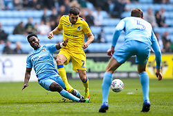 Liam Sercombe of Bristol Rovers is tackled by Bright Enobakhare of Coventry City - Mandatory by-line: Robbie Stephenson/JMP - 07/04/2019 - FOOTBALL - Ricoh Arena - Coventry, England - Coventry City v Bristol Rovers - Sky Bet League One