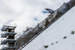 Prislic Ernest of Zagorje soaring through the air during testing jumps at Ski jumping Flying Hill One day before FIS World Cup Ski Jumping Final, on March 20, 2019 in Planica, Slovenia Photo by Matic Ritonja / Sportida