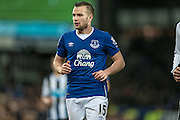Tom Cleverley (Everton) during the Barclays Premier League match between Everton and Newcastle United at Goodison Park, Liverpool, England on 3 February 2016. Photo by Mark P Doherty.
