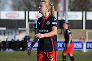 Molly Bartrip in action during the FA Women's Cup match between Crystal Palace LFC and Reading Women at Bromley, England on 8 February 2015. Photo by Michael Hulf.