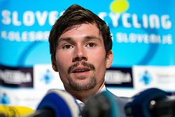 Primoz Roglic at press conference before the Slovenia's Cyclist of the year award ceremony by Slovenian Cycling Federation KZS, on November 26, 2019 in Ljubljana Castle, Ljubljana, Slovenia. Photo by Matic Klansek Velej / Sportida