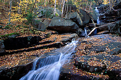 Champney Brook in New Hampshire's White Mountains. Fall. Stream.  Champney Falls Trail, NH