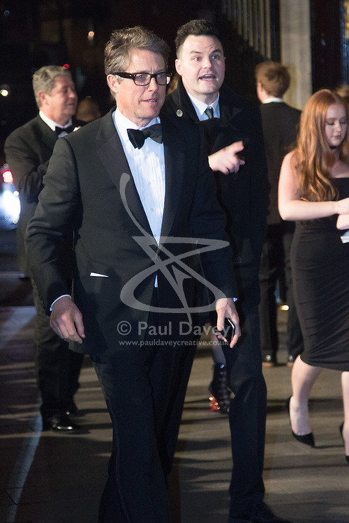 Photo Must Be Credited ©Alpha Press<br /> Hugh Grant arrives at the EE British Academy Film Awards after party dinner at the Grosvenor House Hotel in London.