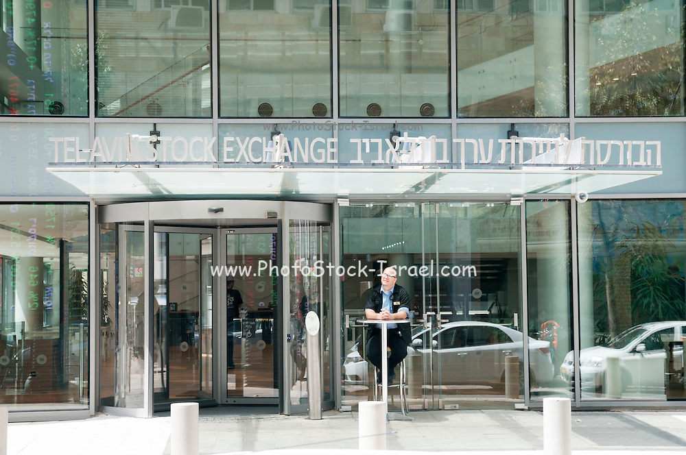 The new building of the Tel Aviv Stock Exchange (TASE) in Ahuzat Bayit Street, Tel Aviv, Israel. The building was inaugurated in July 2014