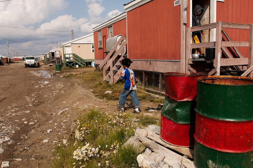 CANADA, Nunavut<br /> Backstreet of Arviat
