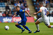 Gillingham FC midfielder Mark Byrne (33) followed by Coventry City midfielder Jordan Shipley (26) during the EFL Sky Bet League 1 match between Gillingham and Coventry City at the MEMS Priestfield Stadium, Gillingham, England on 25 August 2018.