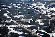 Distruption through the boreal forest due to seismic exploration of oil sands