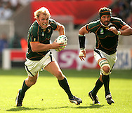 Paris, FRANCE - 9th September 2007, Schalk Burger during the Rugby World Cup, pool A, match between South Africa and Samoa held at Parc Des Princes Stadium in Paris, France...Photo by RG/Sportzpics.net