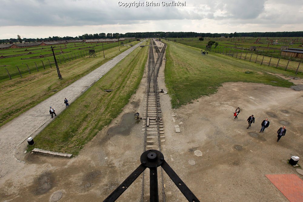 A view from the top floor of the main gate building in Auschwitz-Birkenau Concentration Camp in Poland on Tuesday July 5th 2011.  (Photo by Brian Garfinkel)