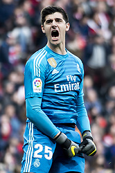 February 9, 2019 - Madrid, Spain - Thibaut Courtois of Real Madrid during La Liga match between Atletico de Madrid and Real Madrid at Wanda Metropolitano in Madrid Spain. February 09, 2018. (Credit Image: © Peter Sabok/NurPhoto via ZUMA Press)