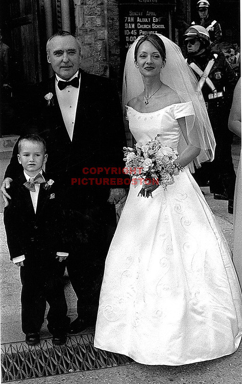 Dennis Hopper and his wife Victoria duffy at their wedding in boston. With them is his son, Henry Lee hopper.