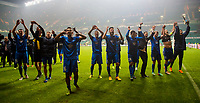 05/11/15 UEFA EUROPA LEAGUE GROUP STAGE<br /> CELTIC v MOLDE FK<br /> CELTIC PARK - GLASGOW<br /> The Molde players celebrate after qualifying for the knockout stages of the Europa League