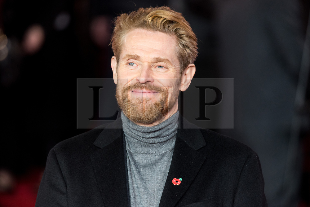 © Licensed to London News Pictures. 02/11/2017. London, UK. WILLEM DAFOE  attends the world film premiere of Murder On The Orient Express. Photo credit: Ray Tang/LNP