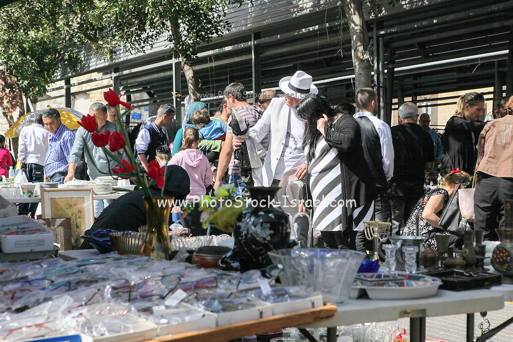 buyers at the Flea Market, Jaffa, Israel