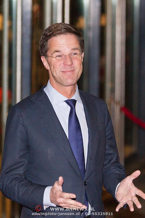 NLD/Rotterdam/20140201 - Beatrix met hart en ziel, Premier Mark Rutte