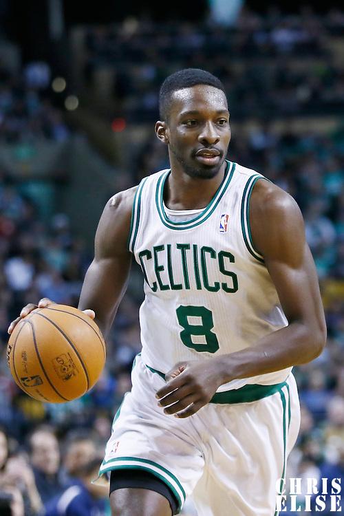 29 March 2013: Boston Celtics power forward Jeff Green (8) brings the ball upcourt during the Boston Celtics 118-107 victory over the Atlanta Hawks at the TD Garden, Boston, Massachusetts, USA.