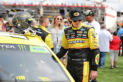 September 30, 2018 - Charlotte, NC, U.S. - CHARLOTTE, NC - SEPTEMBER 30:  #12: Ryan Blaney, Team Penske, Ford Fusion Menards/Pennzoil before the Monster Energy NASCAR Cup Series Playoff Race Bank of America ROVAL 400 on September 30, 2018, at Charlotte Motor Speedway in Concord, NC. (Photo by Jaylynn Nash/Icon Sportswire) (Credit Image: © Jaylynn Nash/Icon SMI via ZUMA Press)