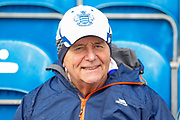 Queens Park Rangers fan during the EFL Sky Bet Championship match between Queens Park Rangers and Swansea City at the Loftus Road Stadium, London, England on 13 April 2019.