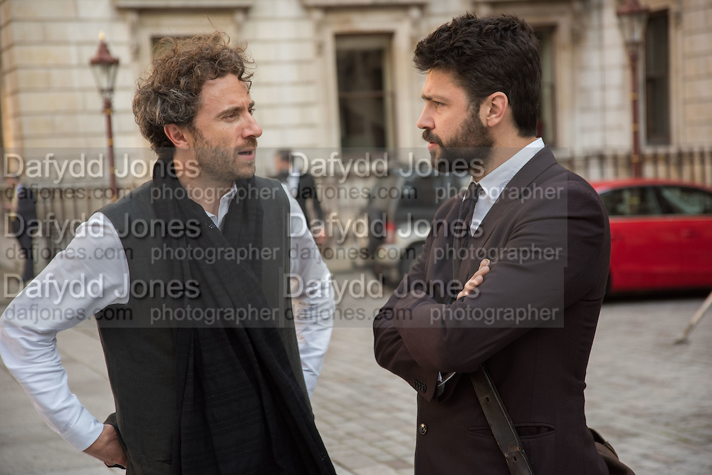 THOMAS HEATHERWICK; CONRAD SHAWCROSS, Royal Academy Annual dinner, Piccadilly, London. 6 June 2016