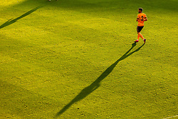 Matt Doherty of Wolverhampton Wanderers casts a long shadow in the evening sunlight - Mandatory by-line: Robbie Stephenson/JMP - 25/07/2018 - FOOTBALL - Bet365 Stadium - Stoke-on-Trent, England - Stoke City v Wolverhampton Wanderers - Pre-season friendly